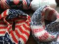 Americana Circle Scarf - patriotic flag scarves with no keyhole
